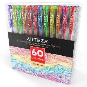 Arteza Gel Pens 60-Individual-Gel Pens for Coloring