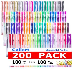 CLEARANCE SALE! Caliart 200 Gel Pens for Coloring Set