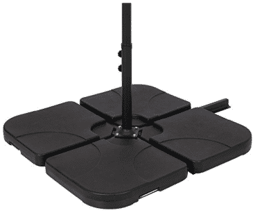 Best Choice Products Patio 4-Piece Cantilever Offset Umbrella Base Stand