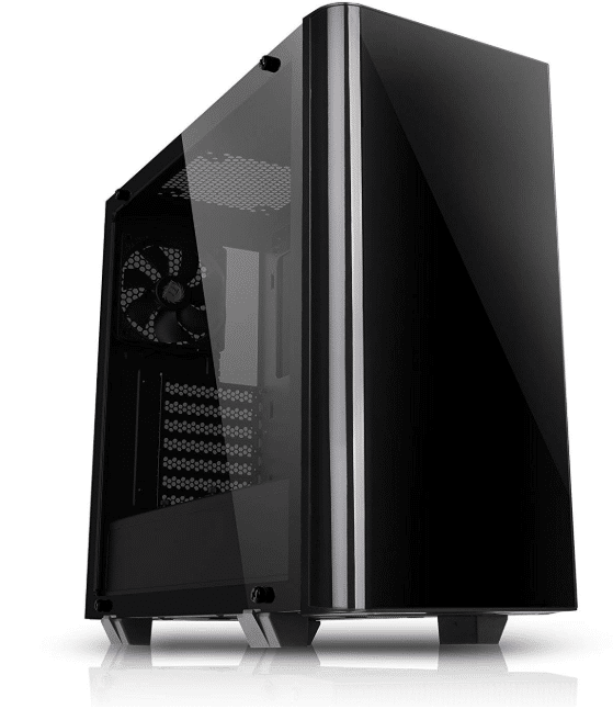 Thermaltake View 21 Dual Tempered Glass ATX Black Gaming Mid Tower Computer Case Chassis