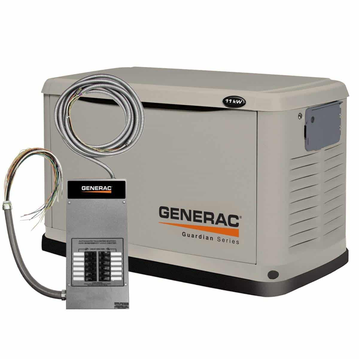 Generac 6437 Guardian Series, 11kW Air Cooled Standby Whole House Generators