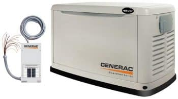 Generac Guardian Series 5871 10,000 Watt Air-Cooled Liquid Propane/Natural Gas Powered Standby