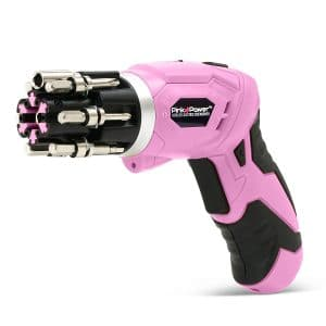 Pink Power 3.6 Volt Rechargeable Cordless Electric Screwdriver Set