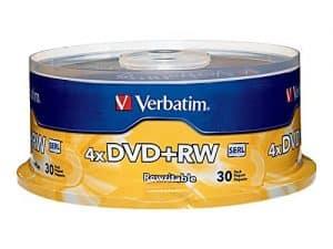 Verbatim 4.7GB 1x- 4x DVD plus RW