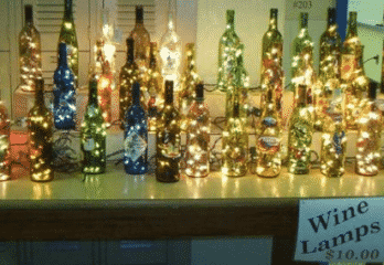 Wine Bottle Lights for Christmas Decoration