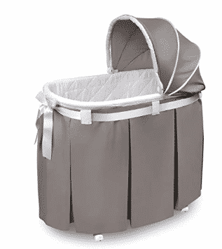 Badger Basket Wishes Oval Bassinet Full Length Skirt
