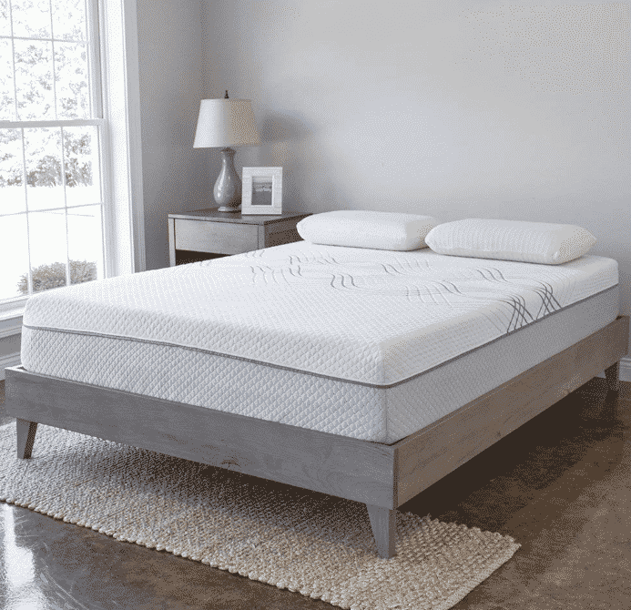 eLuxurySupply Wood Platform Bed Frame