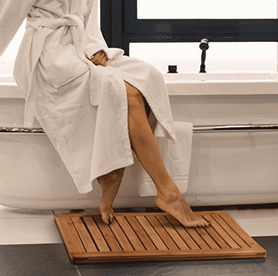 Bamboo Bath Mat Shower Floor Mat