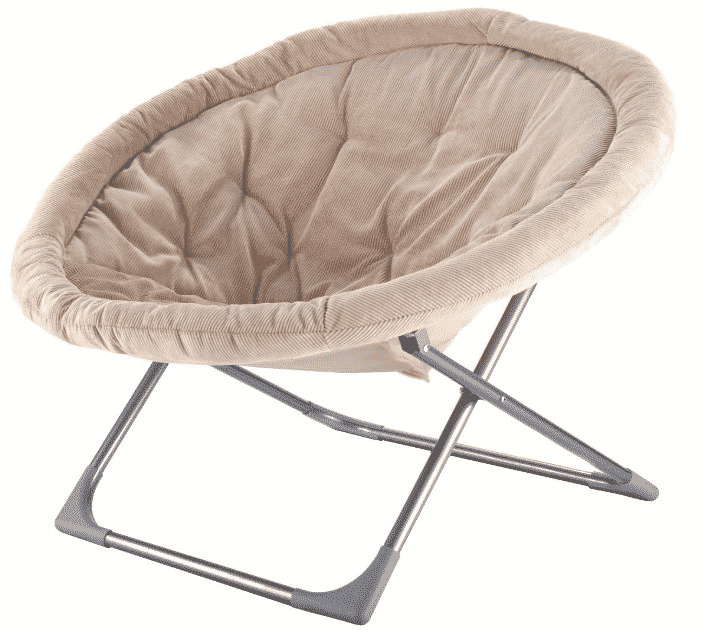 Giantex Oversized Large Folding Saucer Moon Chair Corduroy Round Seat Living Room