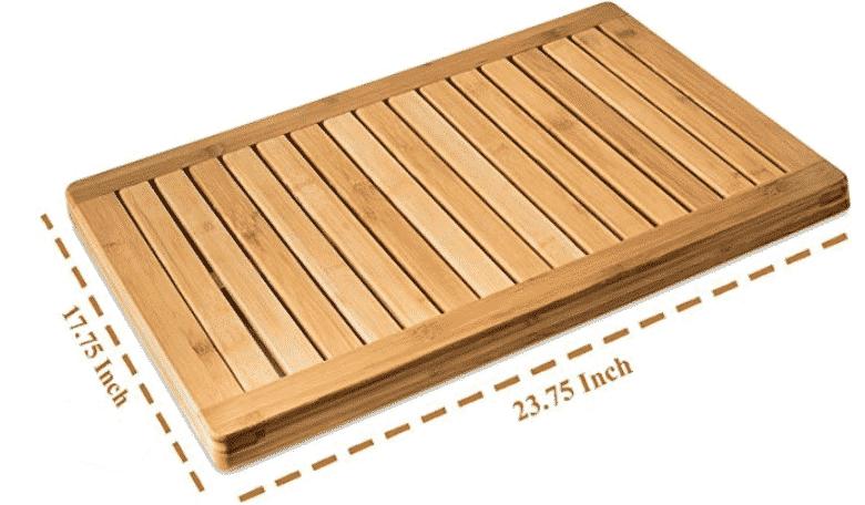 Bamboo Bath Mat Shower Floor Mat Non Slip