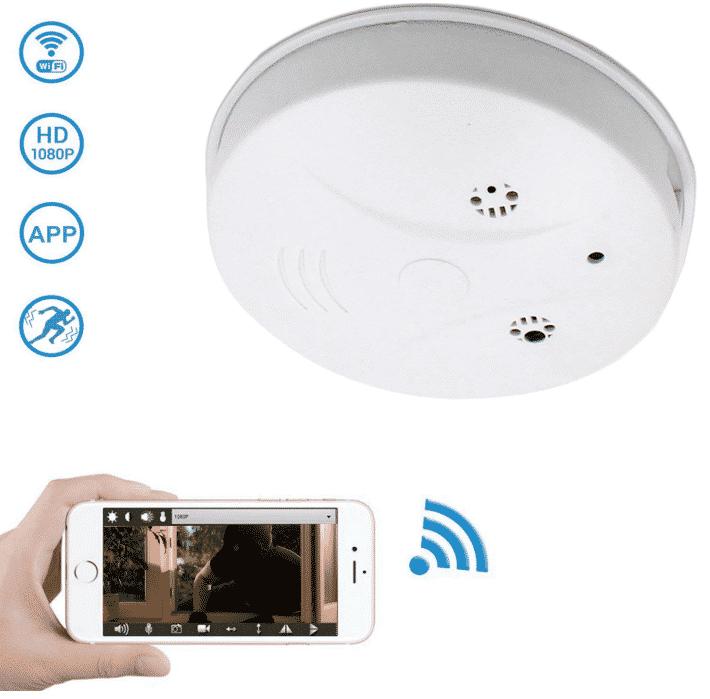 WiFi Hidden Camera Spy Camera Smoke Detector