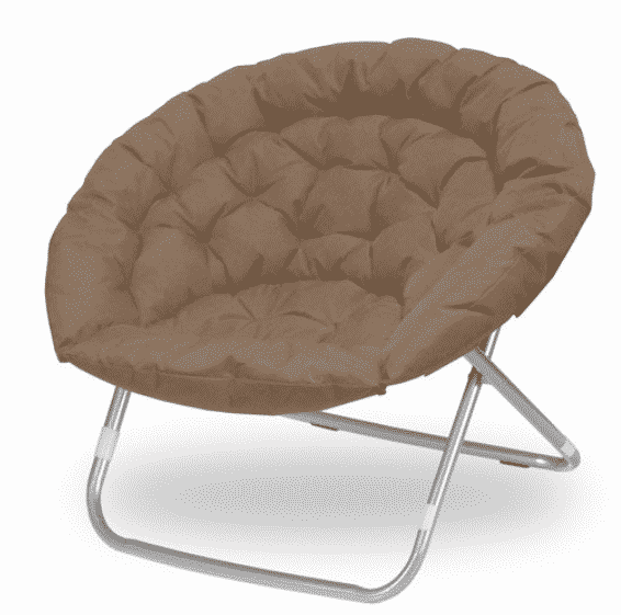 Oversized Folding Moon Chair, Multiple Colors,
