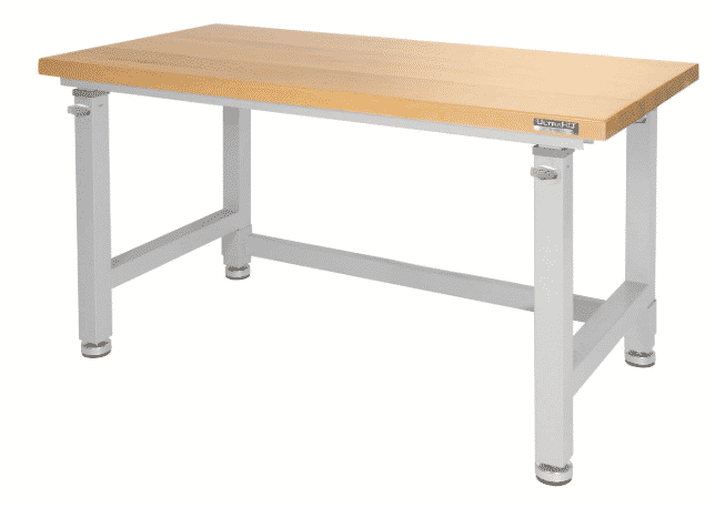 UltraHD Adjustable Height Heavy-Duty Wood Top Workbench