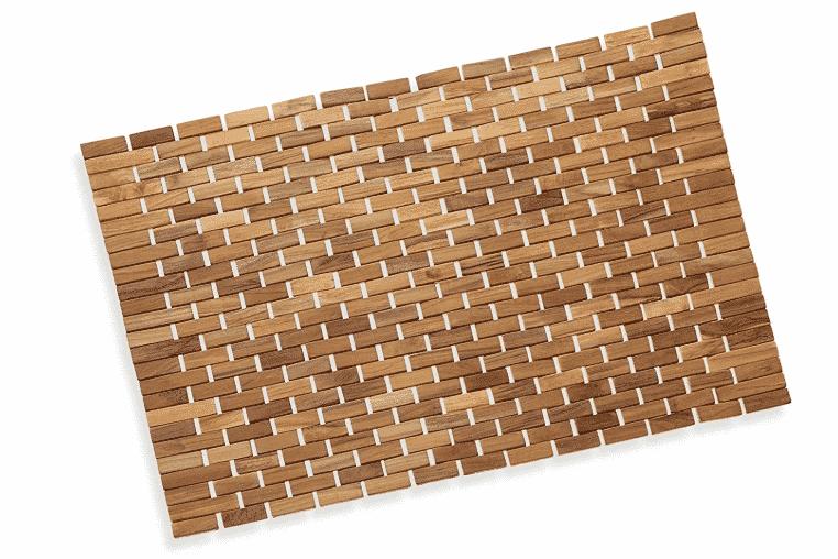 Luxurious Bamboo Bath Mat For Shower