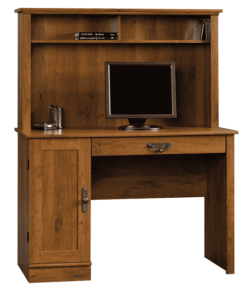 Sauder Harvest Mill Computer Desk with Hutch