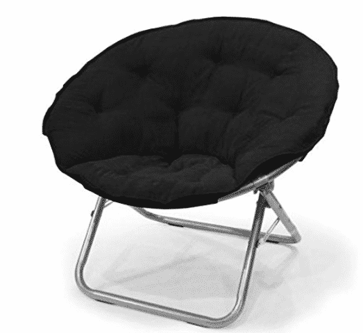 Urban Shop Microsuede Saucer Chair