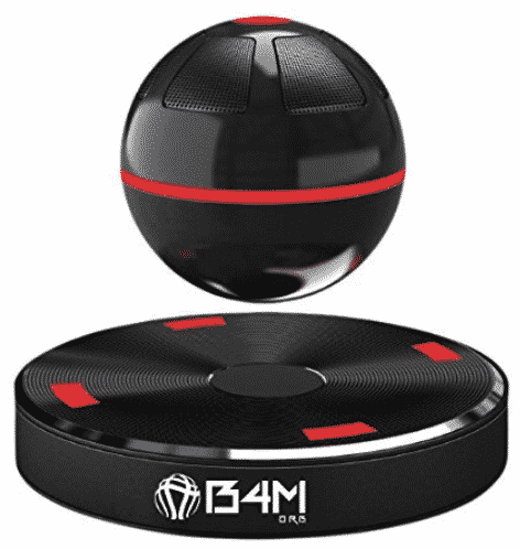 B4M ORB-Dark Black Portable Wireless Bluetooth 4.1 Floating Sound Levitating