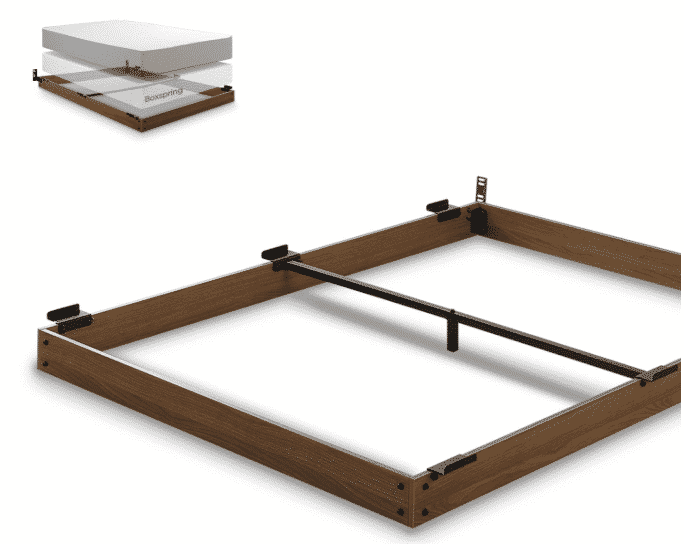 Zinus 5 Inch Wood Bed Frame for Box Spring & Mattress Set