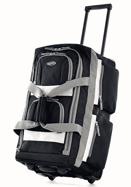 """Olympia Luggage 22"""" 8 Pocket Rolling Duffel Bag"""