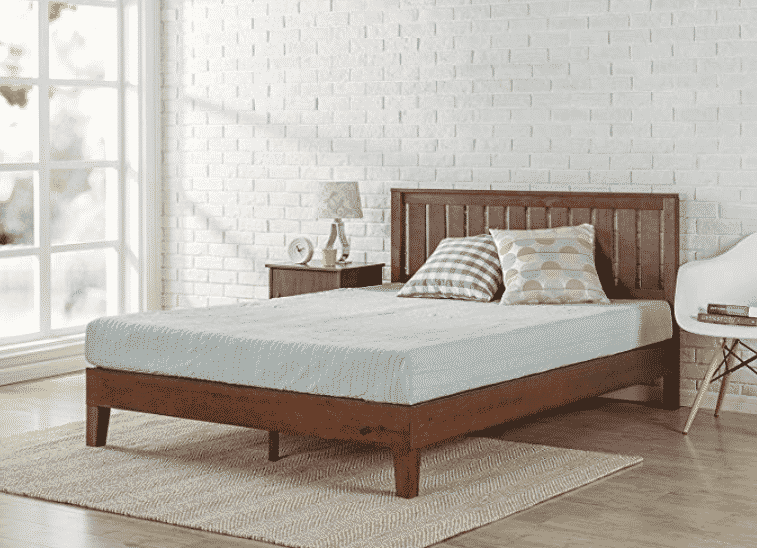 Zinus 12 Inch Deluxe Wood Platform Bed with Headboard