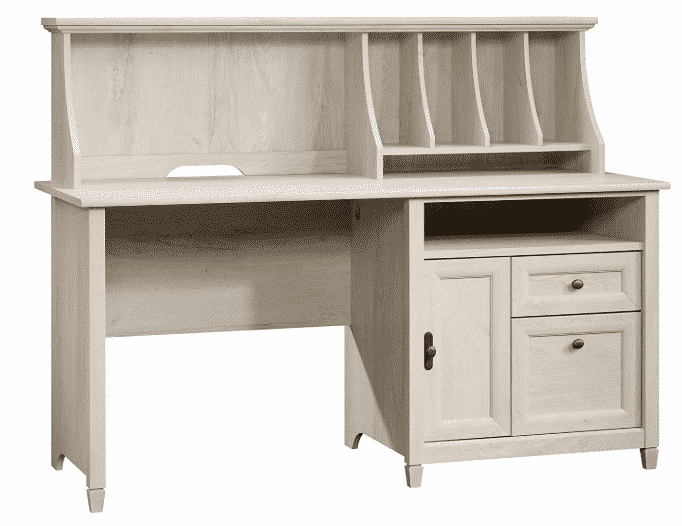 Sauder 419088 Edge Water Computer Desk with Hutch