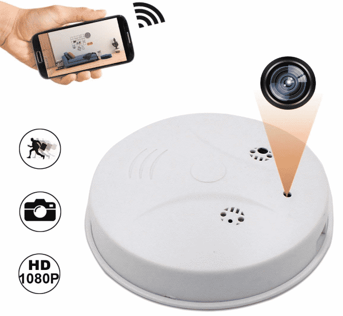 Camakt 2018 Upgrade WiFi Hidden Camera Smoke Detector