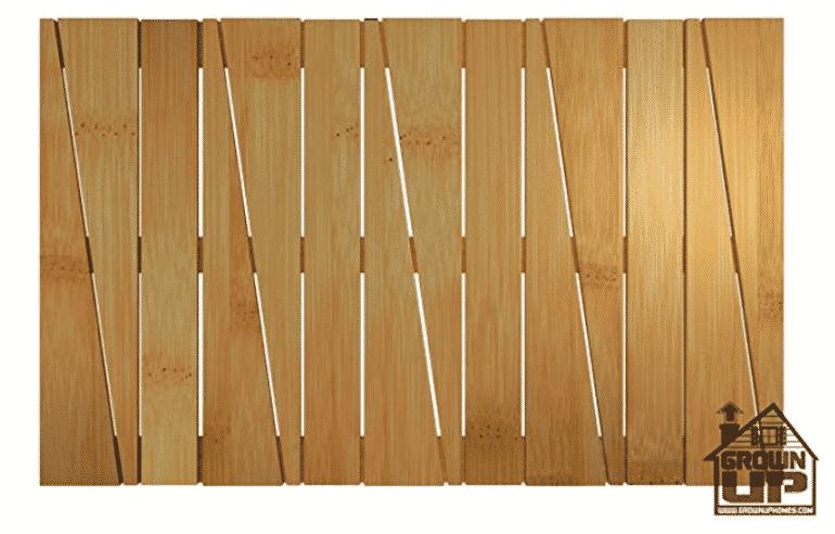 Bamboo Deluxe Shower Floor and Bath Mat