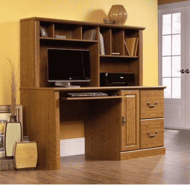 Sauder Orchard Hills Computer Desk with Hutch