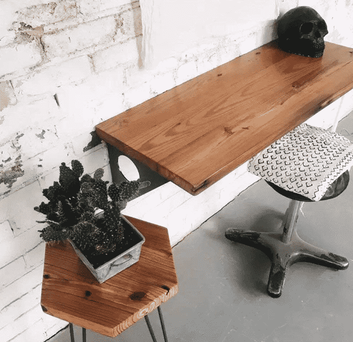 Industrial Rustic Wall-mounted Table