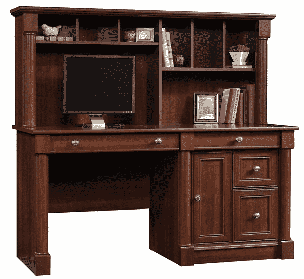Sauder 420513 Palladia Computer Desk and Hutch
