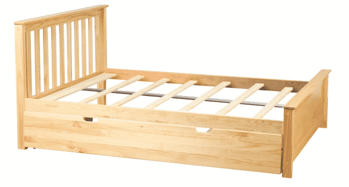 Max & Lily Solid Wood Full-Size Bed with Trundle Bed
