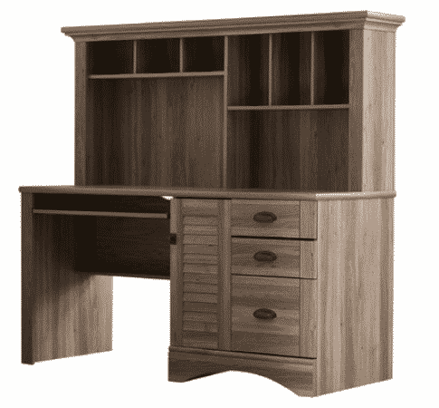 Pinellas Collection Computer Desk with Hutch and Storage