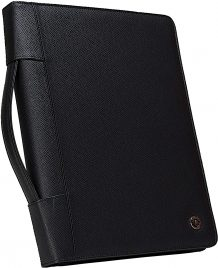 Case-it Executive Zippered Padfolio with Removable 3-Ring Binder