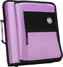 Case-it Velcro Closure 2-Inch Ring Binder with Tab File, Lavender