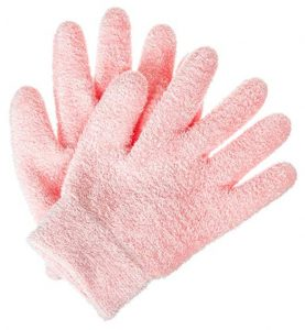 Deseau Moisturizing Gloves, Soft Cotton with Thermoplastic Gel Lining – One Pair