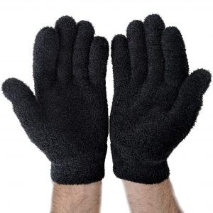 NatraCure Gel Moisturizing Gloves – Black – (Lavender Scent)