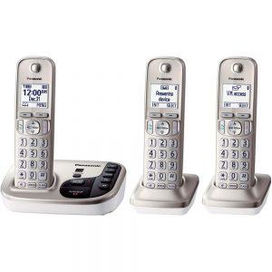 Panasonic KX-TGD223N DECT 6.0 3-Handset Landline Telephone