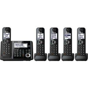 Panasonic KXTGF345B Dect 5-Handset Land-line Telephone