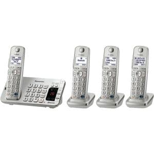Panasonic Link2Cell Blue-tooth KX-TGE274S 4 Handsets Cordless Phone