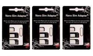 R-Sim 3 pack Sim Card Adapter Kit
