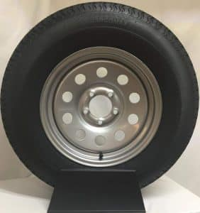 Wheel Express 15-inch Silver Mod Trailer Wheel with ST205/75R15 Mounted Radial Tire