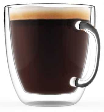 Large Coffee Mug, Double Wall Glass 16 oz