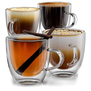 Stone & Mill Double Wall Insulated Glass Espresso Mugs