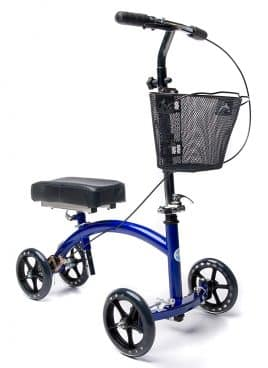 KneeRover Deluxe Steerable Knee Cycle Knee Walker Scooter Crutch Alternative