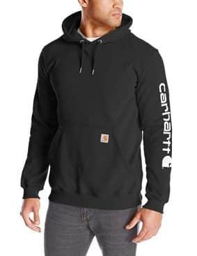 Carhartt Men's Signature Sleeve Logo Midweight Hooded Sweatshirt
