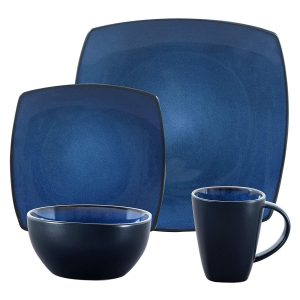 Square Reactive Glaze Dinnerware Set