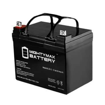 Mighty Max Battery ML35-12 - 12V 35AH U1 Deep Cycle AGM Solar Battery Replaces 33Ah