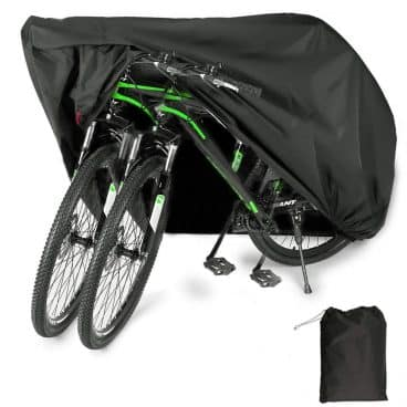 EUGO Bike Cover for 2 or 3 Bikes Outdoor Waterproof Bicycle Motorcycle Cover