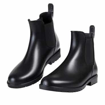 Asgard Women's Short Rain Boots Waterproof Slip On Ankel Chelsea Booties