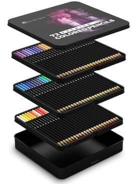 Castle Art Supplies 72 Colored Pencils Set for Coloring Books